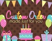 Custom Farm Centerpiece Order for Morgan