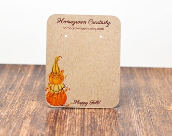 Earring Cards for Fall / Autumn Pumpkins Customized Display Packaging