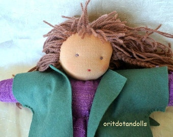 Waldorf doll, HANDMADE, 13inch, for all ages, made of natural materials.