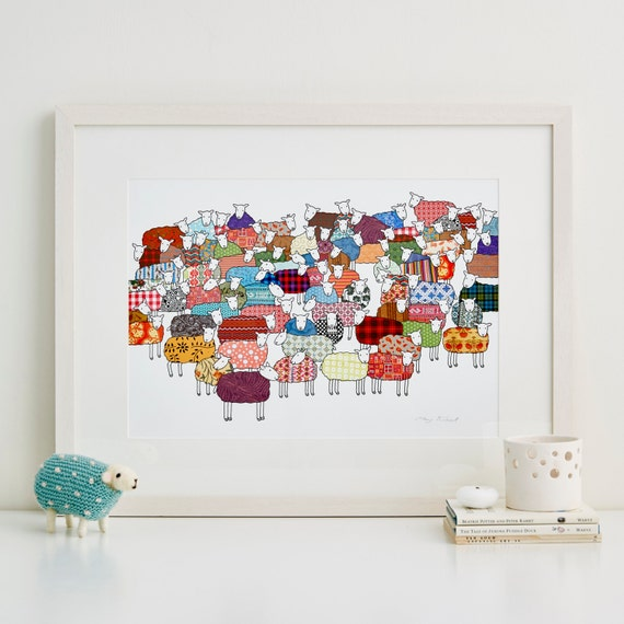 Colourful Sheep Fine Art Print