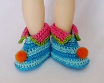 Littlefee, YOSD Elf Shoe Teal and Turquoise