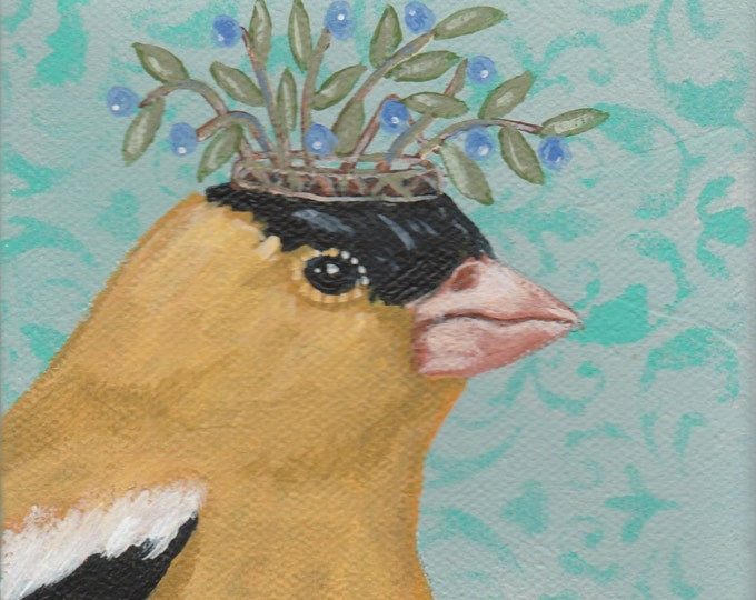 Royal Goldfinch Magnet