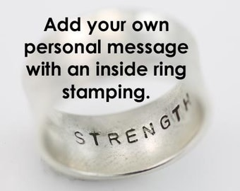 Custom Inside Ring Stamping Add-on  (Read main body, this is not a ring)