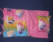 Handmade Sleeping Bag (Pink Pony) fits 18 inch Doll Like American Girl