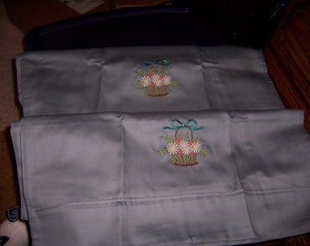 Embroidered Standard Pillowcases