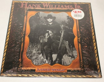 Hank Willims Jr Record Lp / Lone Wolf
