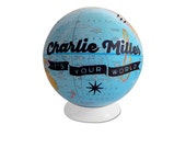 "Custom ""It's Your World"" Pushpin Globe"