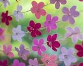 Wedding decor, floral wedding, flower garland, baby shower decor, rustic wedding decor, wedding decor floral, pink bridal shower decor