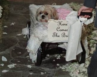 Here Comes The Bride Sign - Wedding Procession Sign - Back of Wagon - Ring Bearer - Flower Girl