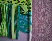 DIY Fabric and notions Lilac & Green Leopard Mixed Print for 1 BRA and BRIEF by Merckwaerdigh