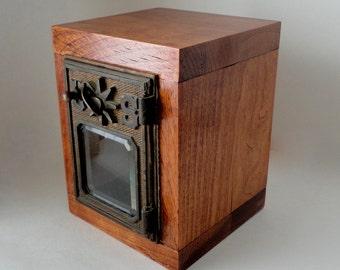 Rustic Wooden Safe 1901 Bronze Starway USPS Door Post Office Retirement Lock Box Bank Groomsman Wedding Party 5th 8th Anniversary lockbox