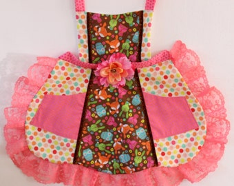 Peachy Woodland Apron