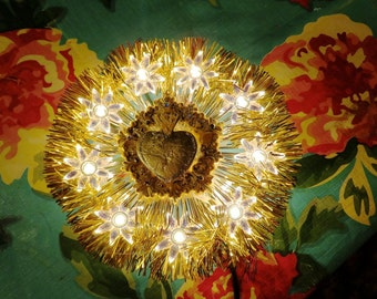 sacred heart Christmas Tree Topper Ook