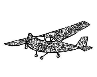 Cessna Airplane Notecard