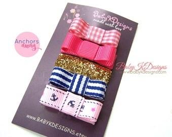 Gold Sparkle Infant Baby Bow Hair Clip, Newborn Hair Clip,  Small Baby Tuxedo Bow Clip. Toddler Girl Simple Bow. Fine hair Barrettes