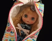 Quilted Boxy Bag for Neo Blythe Doll - Macarons