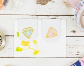 Pastel Diamonds Magnetic Bookmarks | For Kikki K, Erin Condren, FiloFax or other Journals and Planners