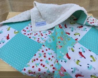 Baby Blanket - Minky Baby Blanket - Baby Girl Blanket - Minky Blanket