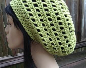 Slouchy Cotton Dreads Hat Light Green Men women Cotton Rasta Slouchy Hat Dreadlocks Slouchy
