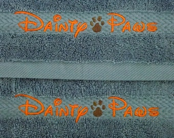 DIRTY PAWS, Dainty Paws, Slobber Stopper, Drool Dribbles - Washcloth for your Furry Friends - One (1) Washcloth