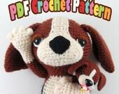 PDF Amigurumi / Crochet Pattern Sleepy Eye Dog – Miso the Beagle and her baby CP-16-3301