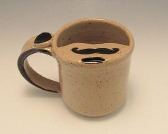 LEFT HANDED MUSTACHE MugMustache Mug/Moustache Mug/Mustache Cup 8-10 Ounces