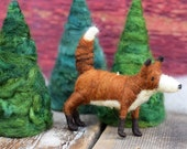 Red Fox - Needle Felted Christmas Ornament