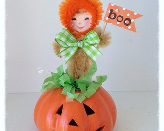 Halloween Decoration,  LIL pumpkin Girl: A Halloween Ornament  for Halloween Party