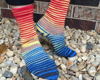 Bazinga! Gradient Stripes Matching Socks Set, 2-50g Cakes, Greatest of Ease (dyed to order)