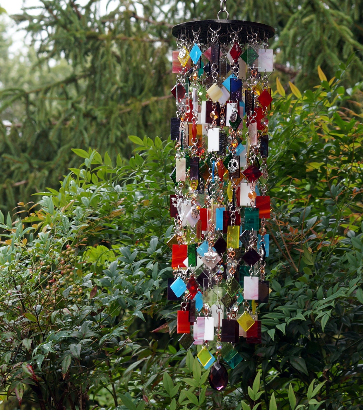 masquerade unique wind chimes suncatcher stained glass. Black Bedroom Furniture Sets. Home Design Ideas