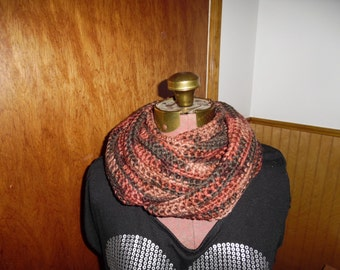 Fall colors tans and golds infinity circle scarf