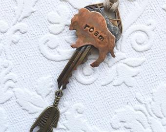 Roam Copper Buffalo Key Pendant