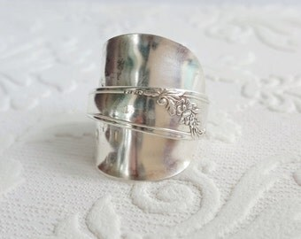 "Demitasse Silverware Wrapped Spoon Ring ""Queen Bess"" from Girl Ran Away with the Spoon"