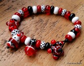 Simply Lampwork bracelet by Pixie Willow Designs.