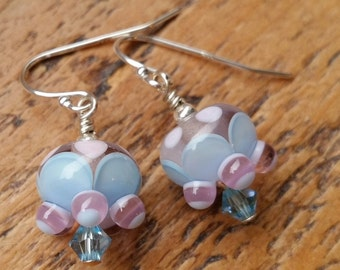 Sarah...Lampwork vintage style earrings by Pixie Willow Designs
