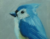 Bird painting 256 6x6 inch portrait original oil painting by Roz
