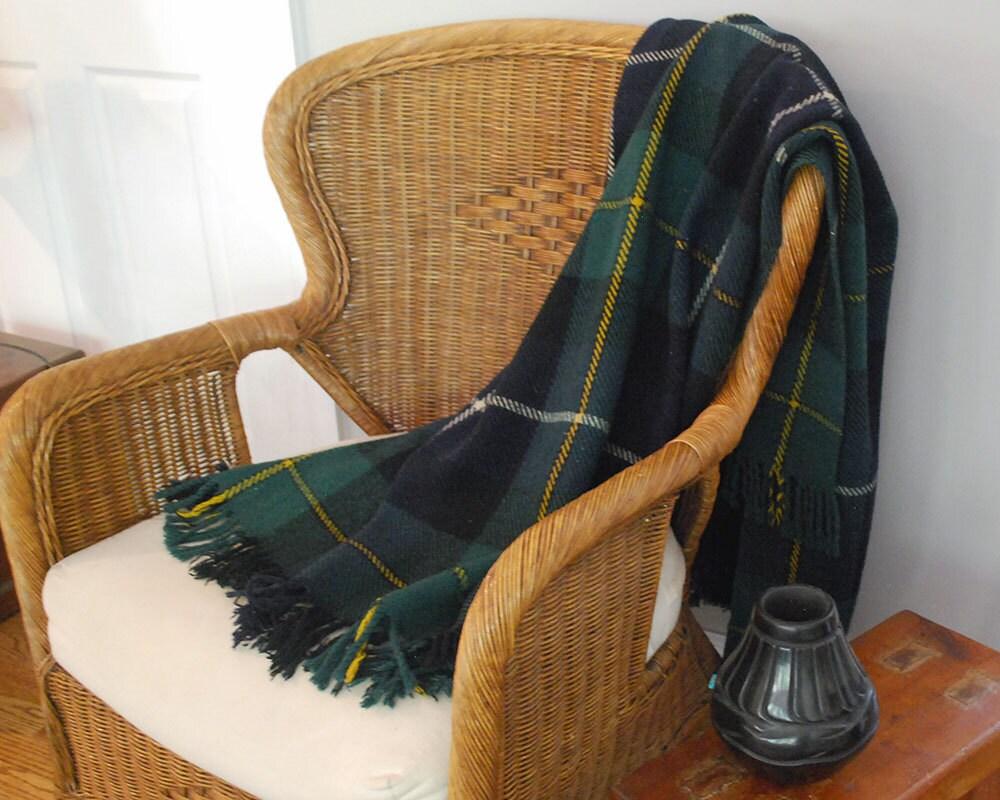 englische tartan werfen karierte wolldecke mit fransen reisen. Black Bedroom Furniture Sets. Home Design Ideas