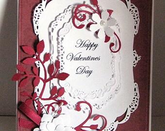 Valentine Greeting Card - Handmade Valentine Card - Happy Valentine's Day - Greeting Card - Card