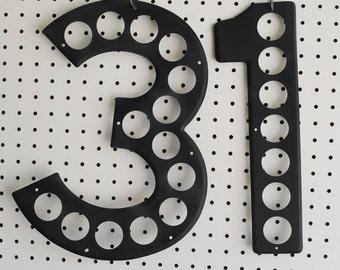 Vintage Highway Sign Numbers  Halloween Date 31 in Black  Black Number 31 for Halloween Decor  Vintage Upcycle for Halloween