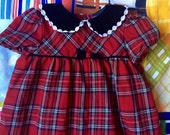 Plaid Romper 18-24 Months