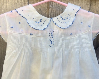50s Baby Dress 6/9 Months
