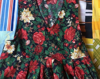 90s Floral Dress Girls 6x