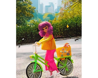 bike print aceo size CENTRAL PARK SWEETHEART