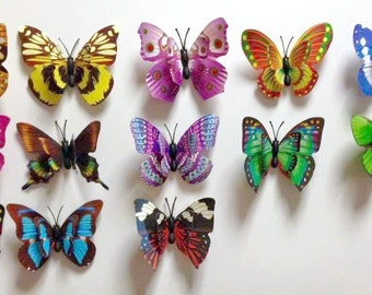 Magnetic 3D butterflies - set of 6