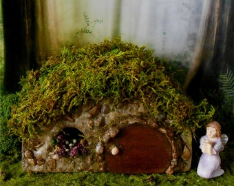 Fairy House, Fairy Garden,FREE SHIPPING,Miniature Garden,Stone Cottage,Fairy Cottage,Outdoor Fairy House,Fairy Dollhouse,Hobbit,Woodland