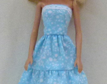 """11.5"""" Fashion Doll Clothes - blue and white"""