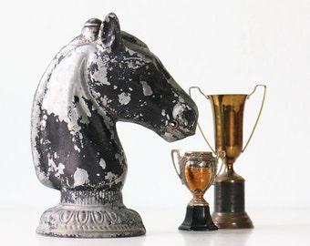Vintage Horse Bust, Post Topper
