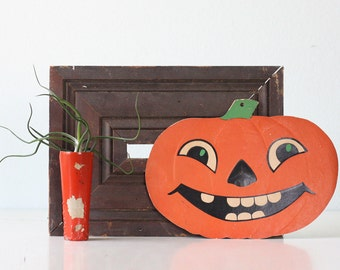 Vintage Halloween Jack O Lantern Decoration, Pumpkin