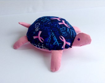 Breast Cancer Awareness Toy Turtle/Pincushion