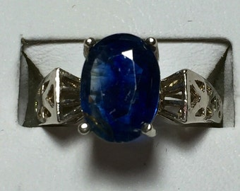 Kyanite and silver ring